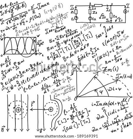 Mathematical equations and formulas - illustration