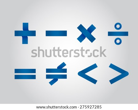 Mathematical signs - stock vector