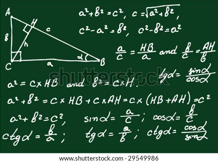 Mathematics background - stock vector