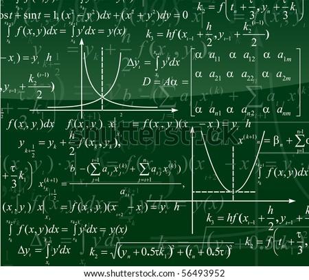 Mathematics background - stock vector