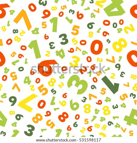 Mathematics Background Different Numbers Random Pattern