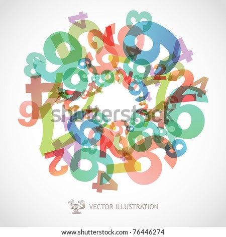 Mathematics background with numbers. Abstract math symbols. - stock vector