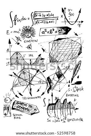 Mathematics Hand Draw Symbols Stock Vector 52598758 Shutterstock