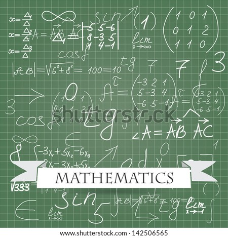 mathematics. vector background eps10 - stock vector