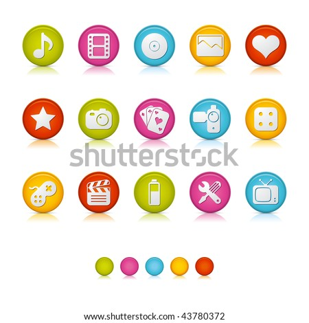 Matte Circle Icons - Multimedia. Adobe Illustrator Vector File EPS 8 for multiple applications. See more...