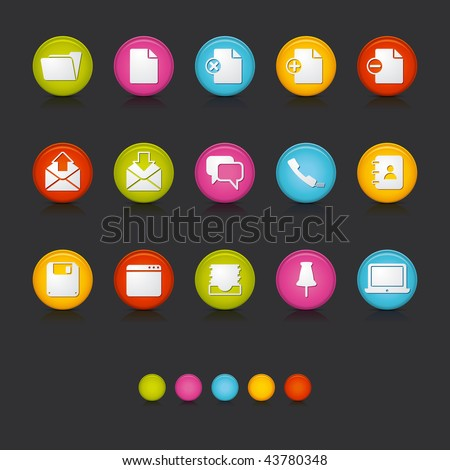 Matte Circle Icons - Office and Business in Black. Adobe Illustrator Vector File EPS 8 for multiple applications. See more... - stock vector