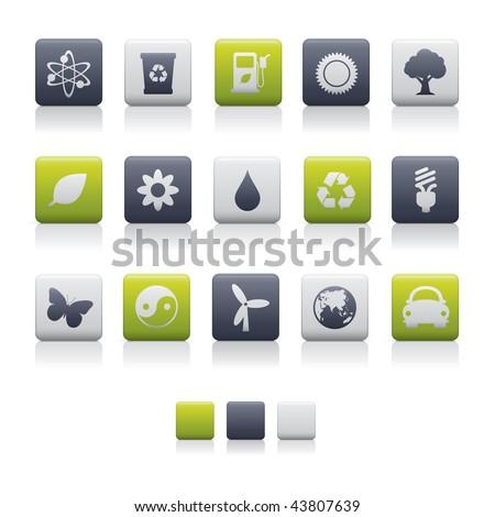Matte Square - Ecology Soft. Adobe Illustrator EPS 8. - stock vector