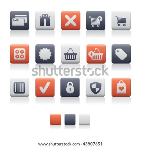 Matte Square - Shopping Soft. Adobe Illustrator EPS 8. - stock vector