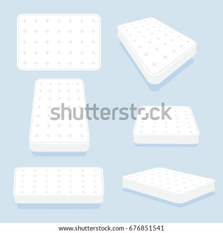 mattress in all positions set highquality modern sprung latex foam and soft