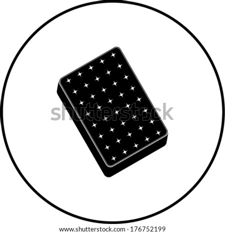 mattress symbol - stock vector