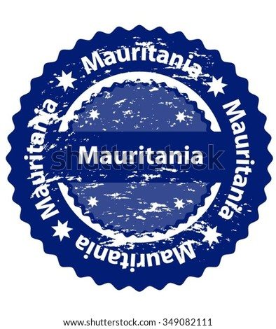 Mauritania Country Grunge Stamp - stock vector