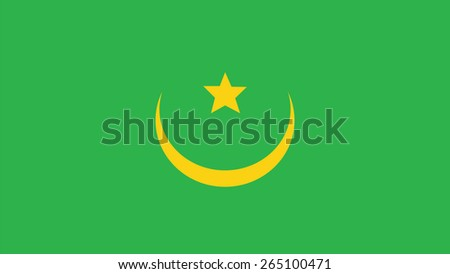 mauritania  Flag for Independence Day and infographic Vector illustration. - stock vector