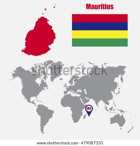Mauritius Map Stock Images RoyaltyFree Images Vectors - Mauritius on world map