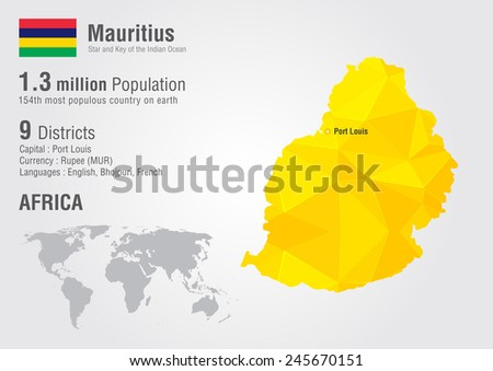 Mauritius Map Stock Images RoyaltyFree Images Vectors - Mauritius map in world map