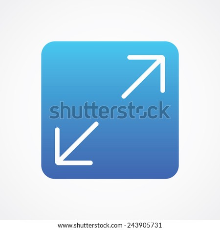 Full Screen Icon Vector Maximize Full Screen Icon