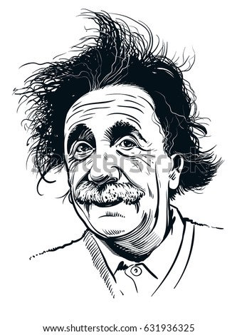 May 2, 2017: Portrait of Albert Einstein. Vector illustration. Editorial use only
