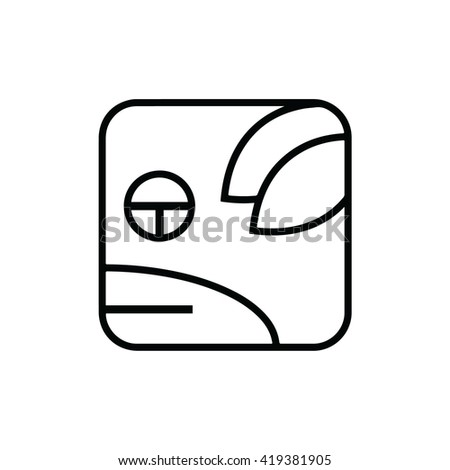 Mayan calendar symbol. Solar seal icon. Solar kin vector illustration. Dreamspell Mayan calendar. White Planetary Dog - stock vector