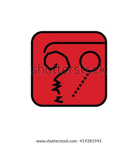 Mayan calendar symbol. Solar seal icon. Solar kin vector illustration. Dreamspell Mayan calendar. Red Self-Existing Earth - stock vector