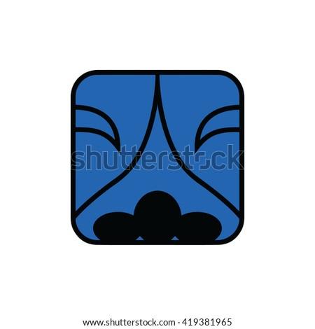 Mayan calendar symbol. Solar seal icon. Solar kin vector illustration. Dreamspell Mayan calendar. Blue Electric Night - stock vector