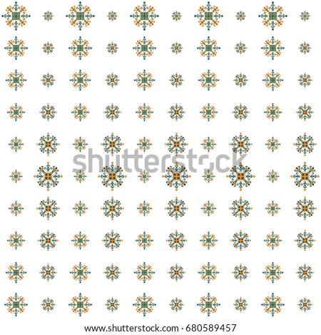 Mayan Fabric Geometric Decorative Navajo Print Stock Vector