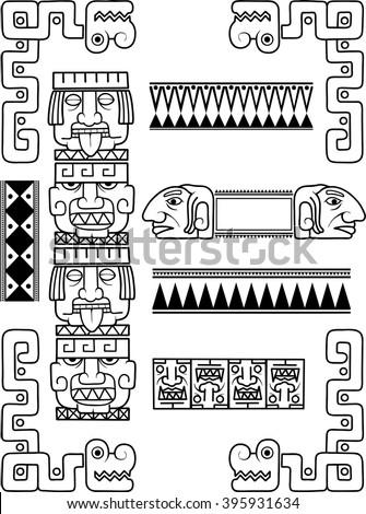 mayan patterns stock vector 395931634 shutterstock