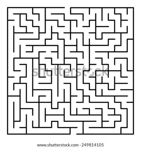 Maze - stock vector