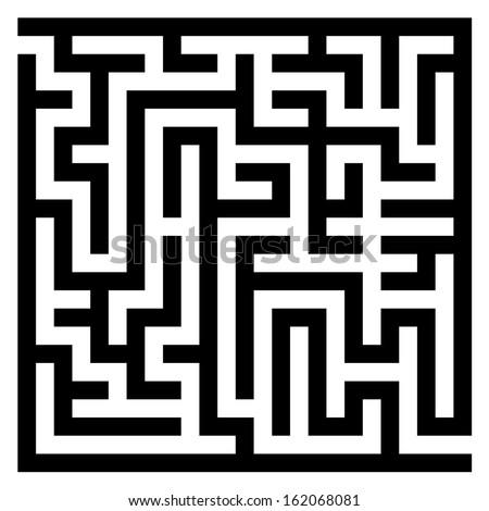 Maze labyrinth - stock vector