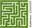 Maze like a bushes - stock vector