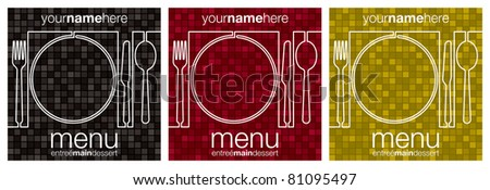 Maze menu designs in vector format. - stock vector