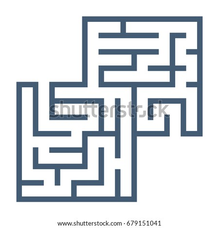 Maze Template Isolated On White Background Stock Vector HD (Royalty ...
