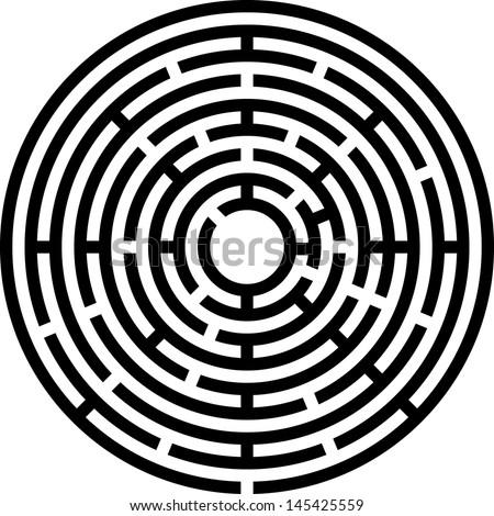 maze (vector) - stock vector