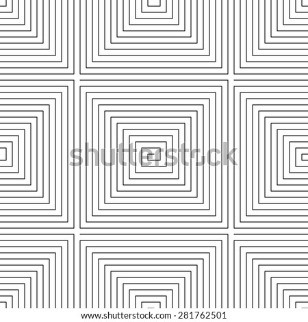 Maze vector monochrome seamless pattern
