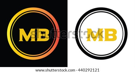 Mb Letters Icon Design Template Elements Stock Vector 440292121 ...