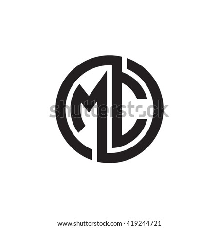 Stock Vector Mc Initial Letters Looping Linked Circle Monogram Logo Mh Letter