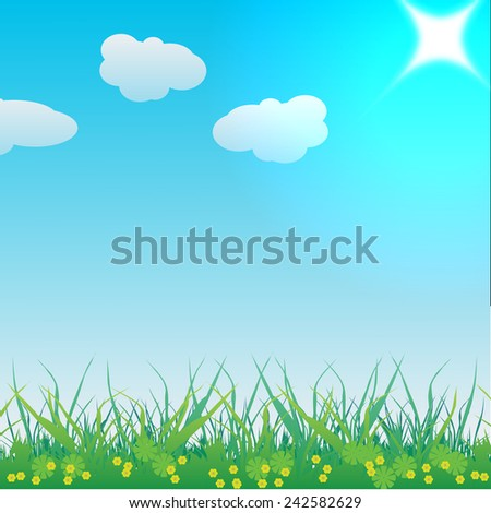 Meadow Landscape - stock vector