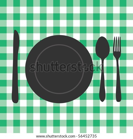 Meal Setting - stock vector