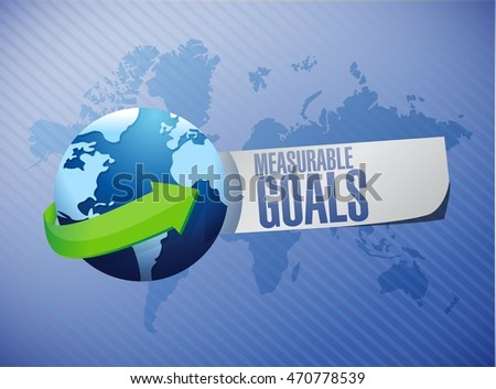 measurable goals global sign concept illustration design graphic