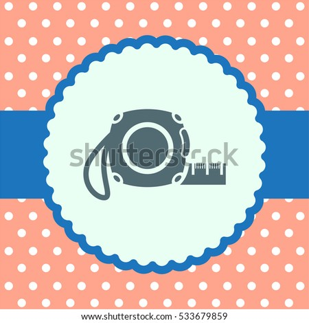 Measure tape vector icon. Measuring device sign. Construction measurement symbol