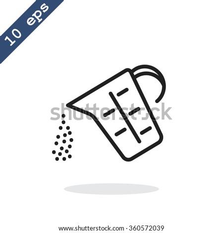 measuring cup vector icon - stock vector