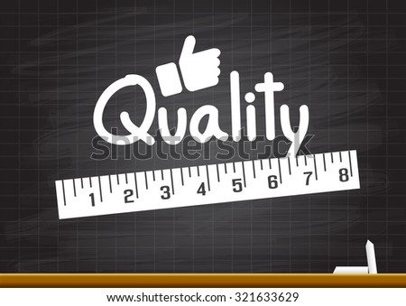 Measuring quality - stock vector