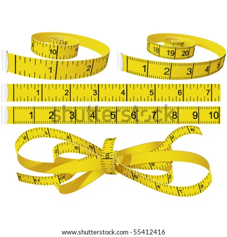 Measuring Tapes - stock vector