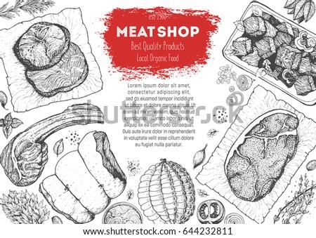 top hand design bakery top view frame hand drawn stock vector 603290390 shutterstock
