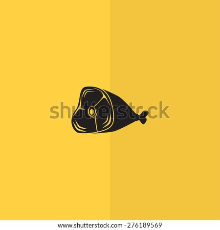 Meat icon vector - stock vector
