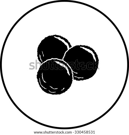 meatballs symbol - stock vector