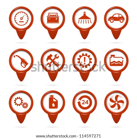 Mechanic and service pointers - stock vector