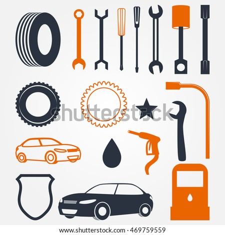 Mechanic Garage Vector Objects