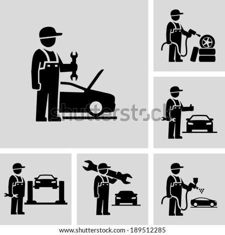 Mechanic man - stock vector