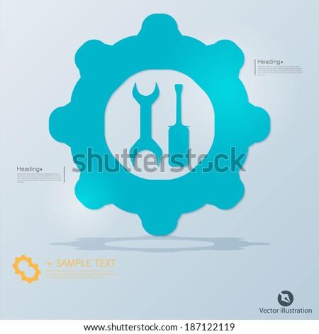 Mechanic's or repairman's tools icon - stock vector