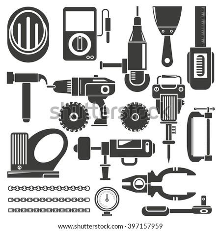 mechanic tools - stock vector