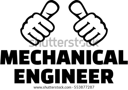 Mechanical Engineer Thumbs Tshirt Design Stock Vector